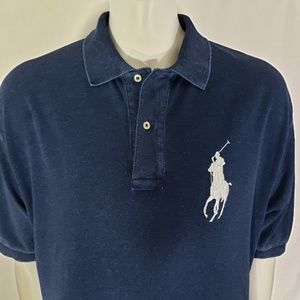 Polo Ralph Lauren Blue Polo Cotton Shirt Size 2XB